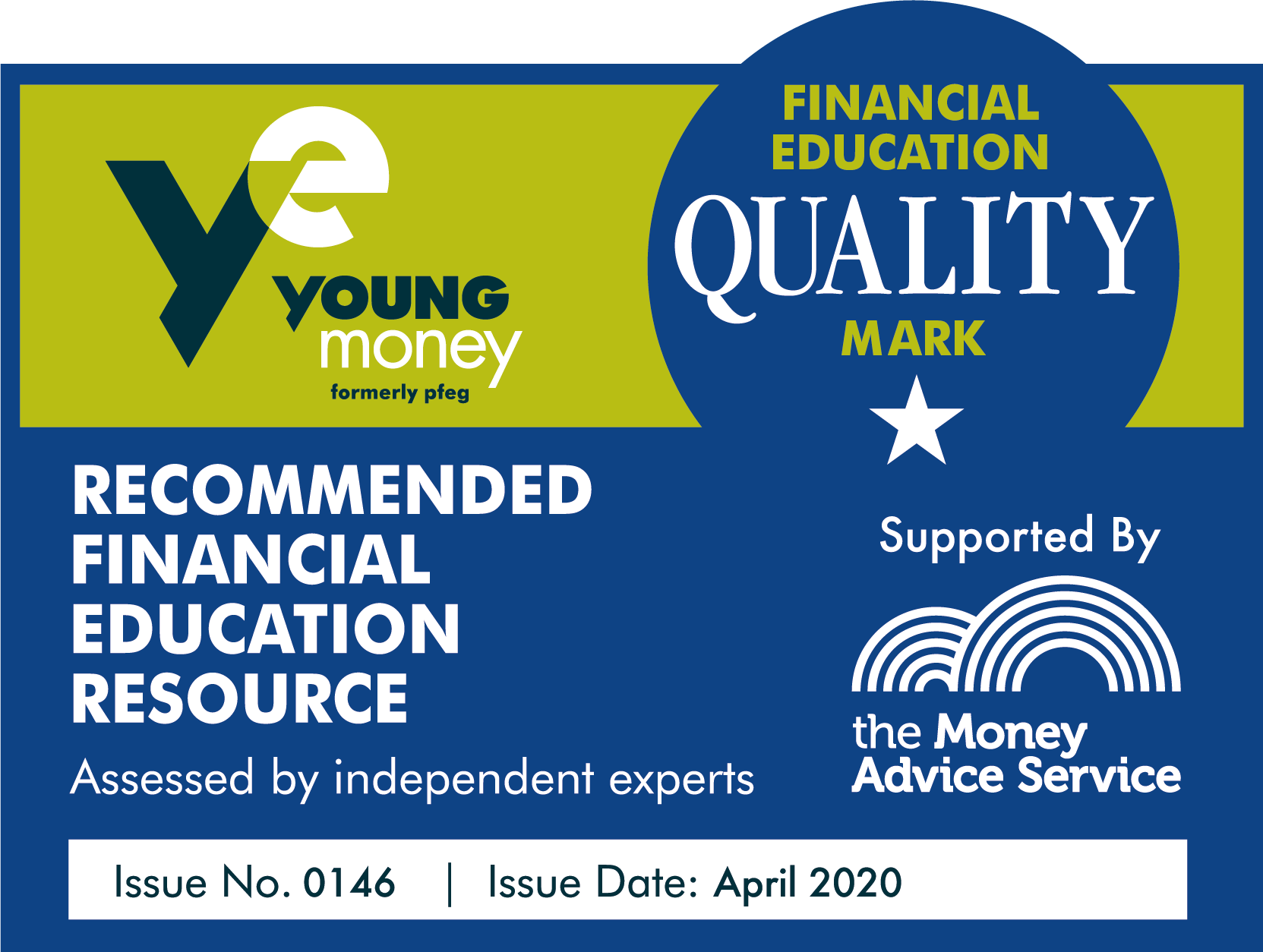Young money has given us their financial education quality mark and Money and Me is a recommended financial education resource